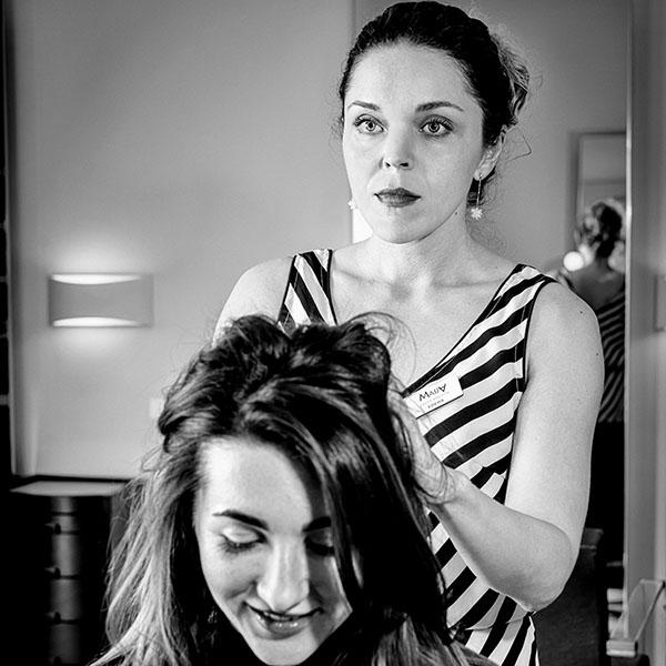 создание причёски